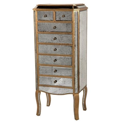 Mirrored Tallboy Chest Of Drawers by Antique Venetian Mirrored 7 Drawer Tallboy Chest Shabby