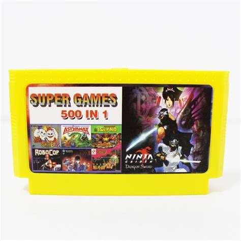 Pocket Gamis By Shop aliexpress buy 500 in 1 pocket in 1 cartridge big yellow card for 8 bit