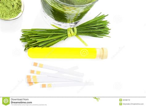 Wheatgrass Detox Test by Health And Background Stock Photo Image 33188770