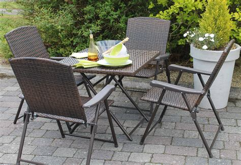 5 folding rattan patio set 5 pce folding rattan set