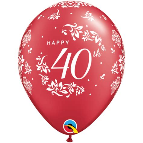 40th anniversary color 40th anniversary balloons ruby anniversary balloons 25pc