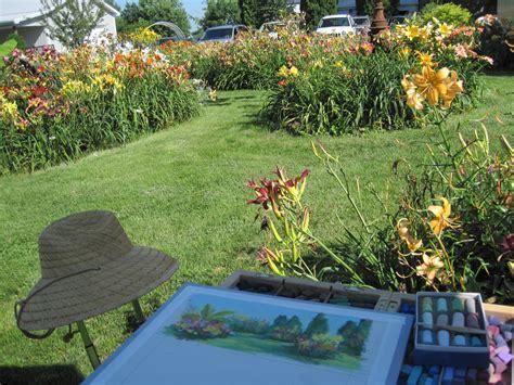 Heavenly Gardens Daylilies by An Artist Saturday Plein Air Heavenly Gardens