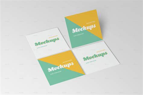 square business card mockups  mockstore graphicriver