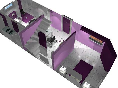 vue en 3 dimensions d une salle d eau design et adapt 233 e