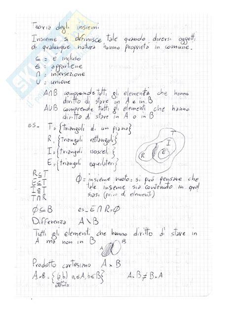 test analisi 1 polito lezioni appunti di analisi matematica