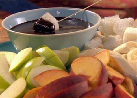 ina garten chocolate fondue chocolate caramel fondue recipe robin miller food network