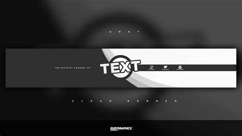 Free Gfx Free Photoshop Banner Template Clean 2d Gray Banner Design Youtube Banner Design Templates In Photoshop Free