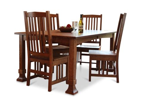 amish table and chairs amish mission oak table and 4 side chairs hom furniture