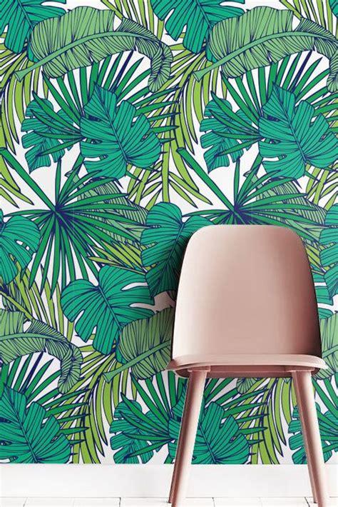 Walldecor Monstera 1 palm monstera leaf wallpaper removable wallpaper self