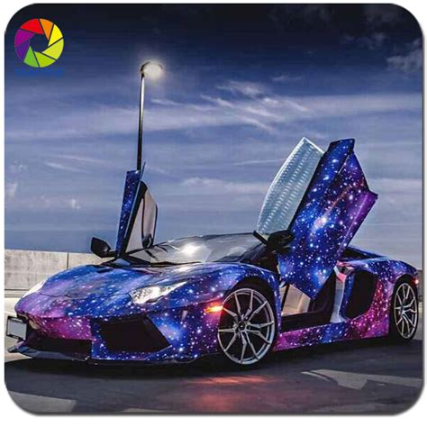 galaxy car wrap 2016 top quality 1 52 30m popular purple galaxy car