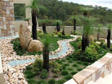backyard glass landscaping rocks