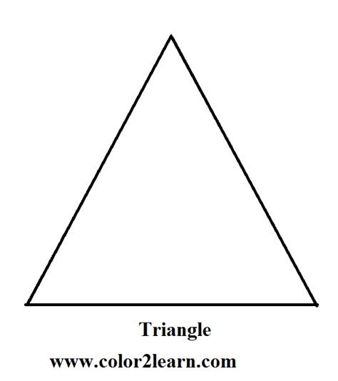 Right Triangle Printable Coloring Pages Triangle Coloring Pages