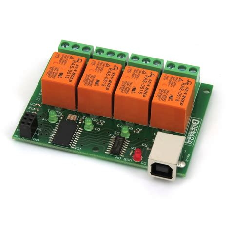 usb 4 relay board for home automation v2