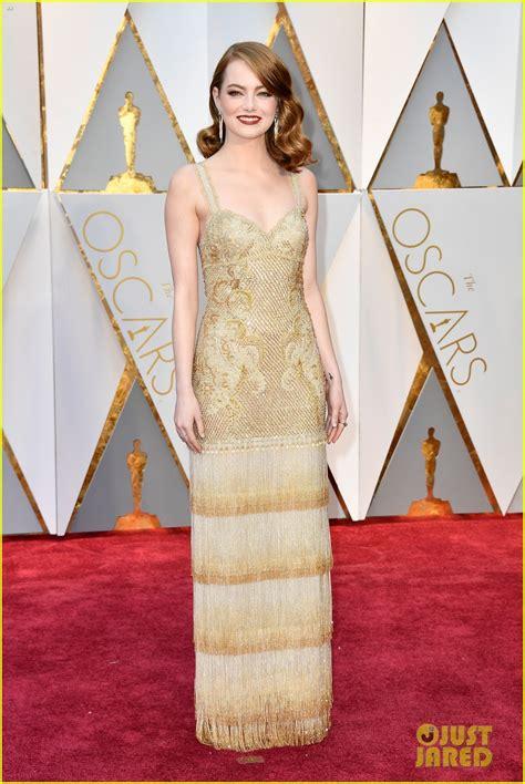 emma stone oscar dress emma stone s oscars 2017 dress shines just like a