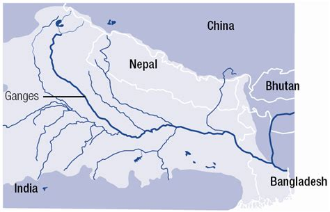 ganges river map the ganges river map