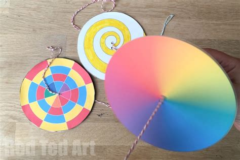 diy paper spinner toys red ted art s blog