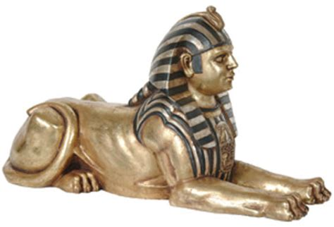 Egyptian sphinx statue laying 2 5 ft