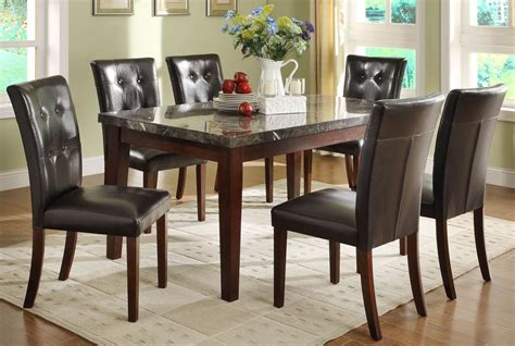 espresso dining room set decatur espresso marble top dining room set from