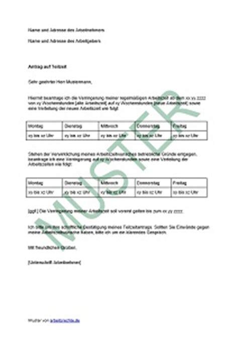 Antrag Verlustrücktrag Vorlage Antrag Auf Teilzeit Beim Arbeitgeber Stellen Arbeitsrecht 2017