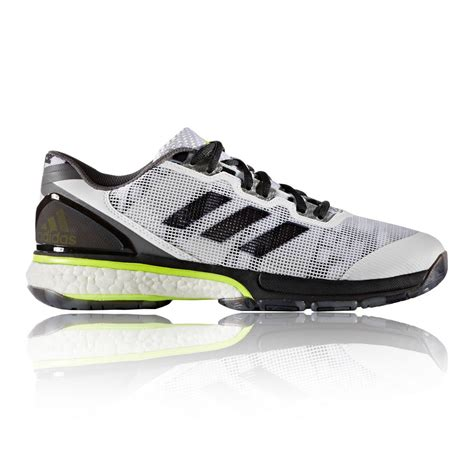adidas stabil boost 20y mens white handball indoor sports