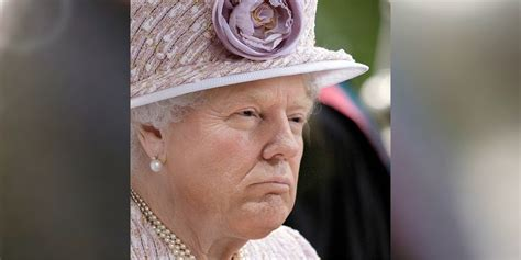 queen elizabeth donald trump instagram mashup maestro attaches donald trump s face to