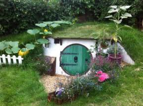 Backyard Builds by Builds Real Sized Hobbit In Backyard Ny