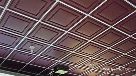 Vinyl Drop Ceiling Thermoform Vinyl Ceiling Tiles Wishihadthat