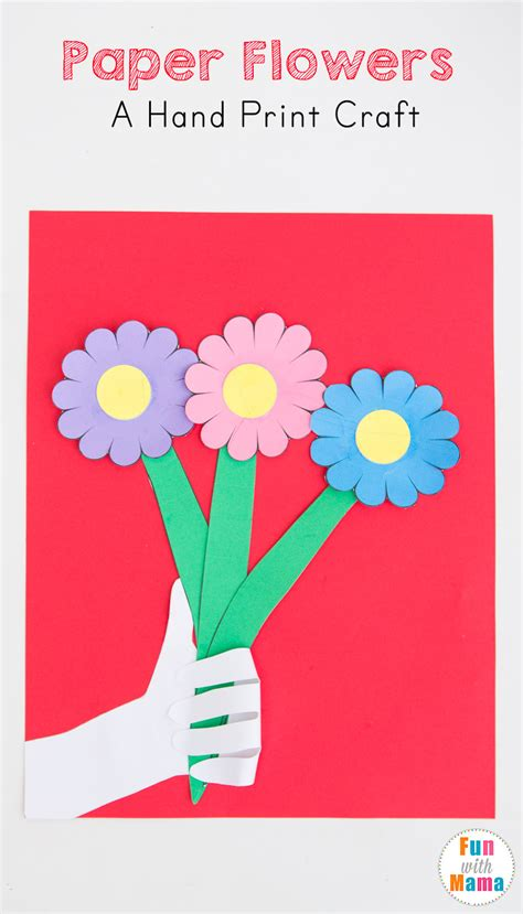 paper flower craft for preschoolers paper flowers craft for with