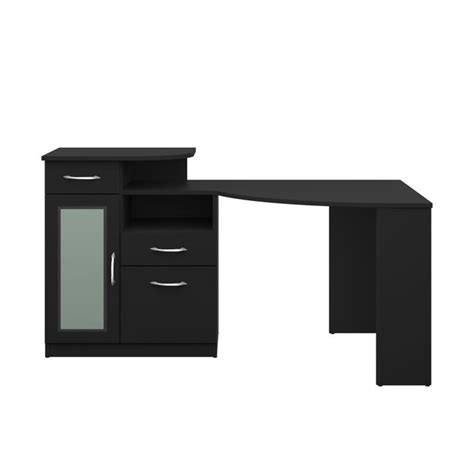 black desk bush vantage corner home office black computer desk ebay