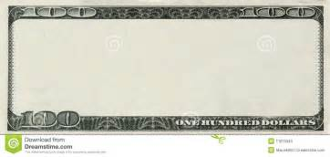 Bank Note Template by Blank 100 Dollars Bank Note With Copyspace Stock Photos