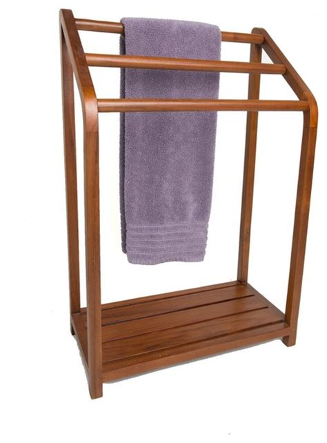 Bath Towel Rack Stand by Spa Collection Versatile Teak Towel Rack Transitional