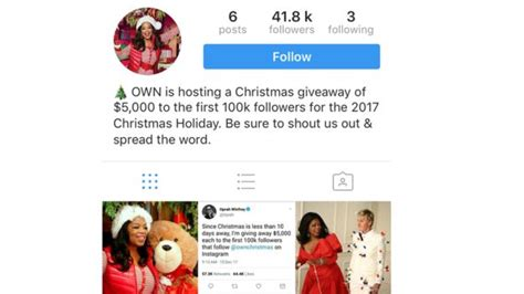 Oprah Winfrey Christmas Giveaway 2017 - holiday and christmas scams users should be aware of