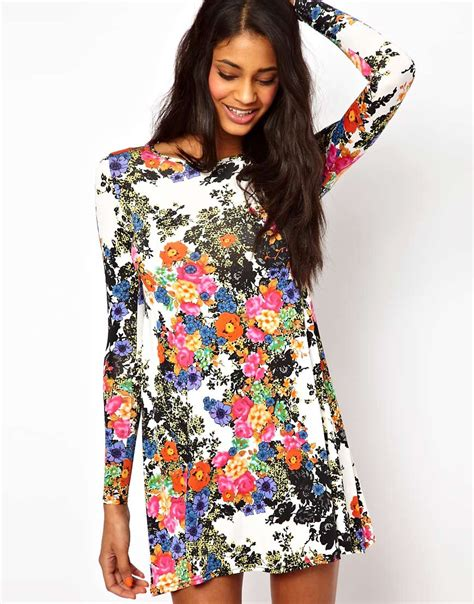 love swing dress oh my love oh my love swing dress in floral print at asos