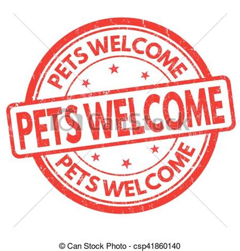 eps vector of pets welcome sign or st pets welcome