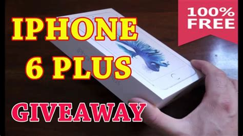 Free Iphone 6 Plus Giveaway - free iphone 6 plus how to get free iphone 6 plus giveaway youtube