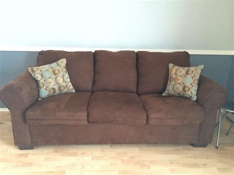 chocolate brown suede sectional chocolate brown suede sofa only two months orleans