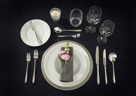 how to set a table viners cutlery
