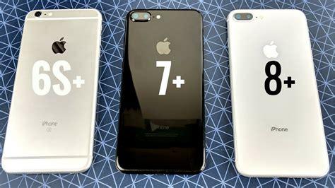 iphone 6s plus vs iphone 7 plus vs iphone 8 plus ios 11 2
