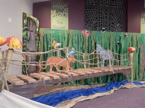 How To Make A River Out Of Paper - vbs safari jungle bridge with river cardboard wood
