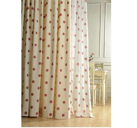 red curtains for sale hot sale cotton and linen curtain for living room red dot