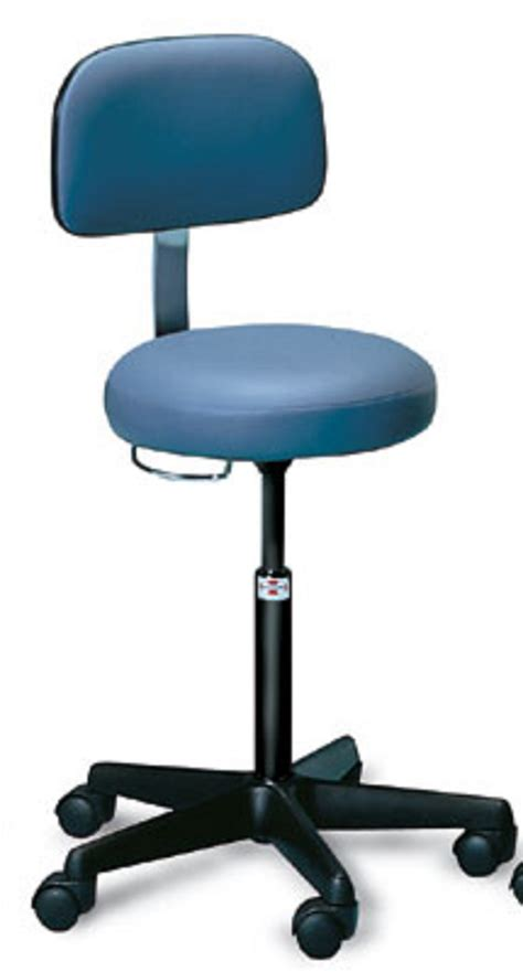 Treatment For Stools by Air Lift Pneumatic Treatment Stool With Backrest