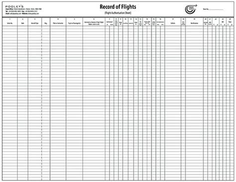 Flying Schools Instructors Flight Log Pads Btc032 Aopa Record Of Flights Operation Pad Uav Logbook Template
