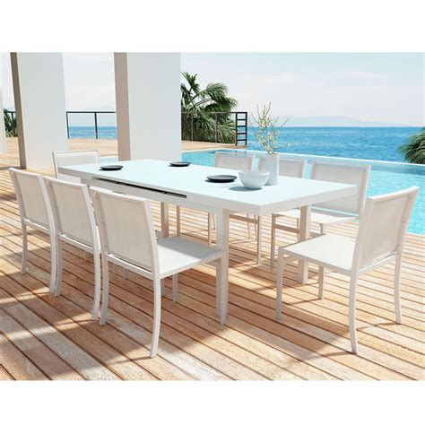 White Patio Dining Sets White Modern Outdoor Dining Set Chairs Seating