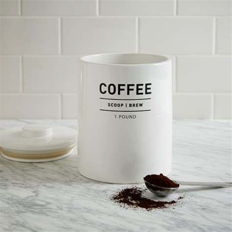 coffee kitchen canisters utility coffee canister west elm