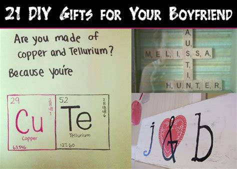 be my ideas for boyfriend 21 diy gifts for your boyfriend snappy pixels