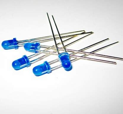 light emitting diode ratings 1000pcs 5mm blue led light emitting diode blue diffused light in diodes from electronic