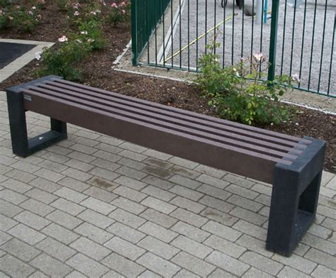 benches made from recycled plastic canvas straight recycled plastic bench goplastic esi