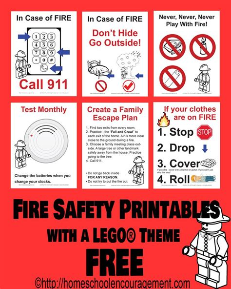 printable safety poster free fire safety posters with a lego 174 theme
