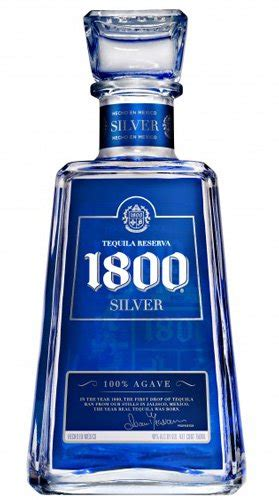100 Agave Silver Tequila Brands - 1800 silver tequila reviews and ratings proof66