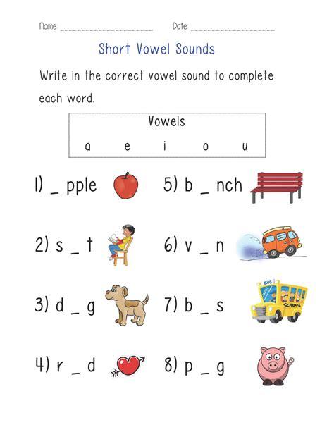 Vowel Sounds Worksheets For Kindergarten by Vowel Sounds Worksheet Englishlinx Board